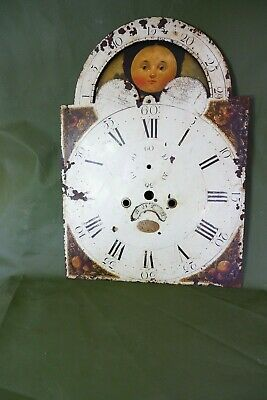 Antique Grandfather / long case Clock Dial with Moon Phase Wilson Birmingham
