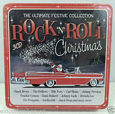 Rock N Roll Christmas 3CD The Ultimate Festive Tin Collection Various Artists