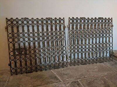 Pair of Vintage Architectural Brass Window Grille - Moroccan Arabic style