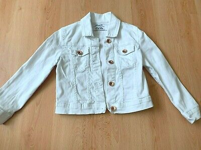 Girls white denim style jacket by primark denim & co  age 5-6 years
