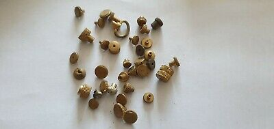 BRASS CLOCK NUTS ASSORTED clockmakers parts