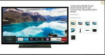 Toshiba 32Ll3A63Db 32 Inch Full Hd Led Smart Tv With Freeview Netflix Amazon App