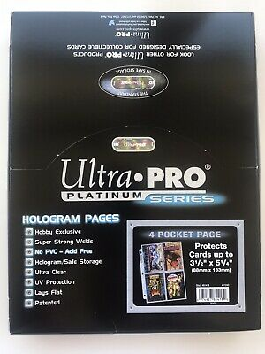 Ultra Pro A4 4 Pocket Pages X10 - Jumbo Oversized Cards Postcards