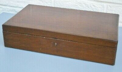 Antique Solid Mahogany Document or Jewellery Box Lift Out Tray For Restoration