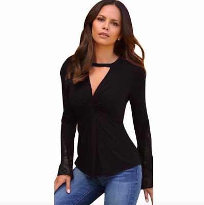 Sexy 🔥 Women Shirt Casual Lace Patchwork Long Sleeve Blouse SM