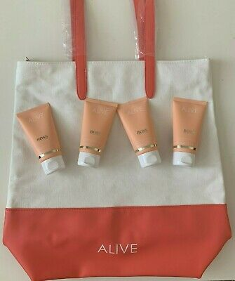 Hugo Boss-Set ALIVE Perfumed Hand&Body Lotion 300ml (3x75ml) inkl. Tasche NEU