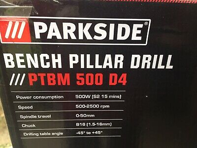 Parkside Bench Pillar Drill 500w