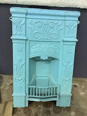 Old Cast Iron Fireplace Victorian? Edwardian ? Fire Place