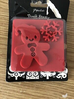 Paperchase Gingerbread Man & Snowflake Christmas Themed Toast Stamp Festive