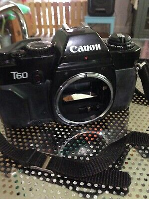 Canon T60 35mm Camera Body Only untested