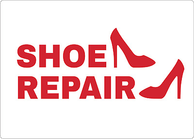 SHOE REPAIR STOREFRONT SIGn | Adhesive Vinyl Sign Decal