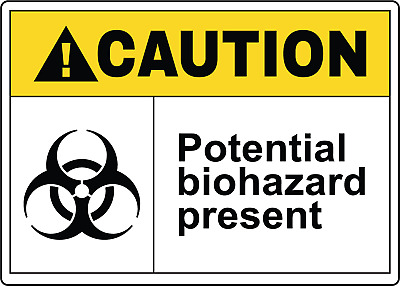 CAUTION! POTENTIAL BIOHAZARD PRESENT OSHA | Adhesive Vinyl Sign Decal