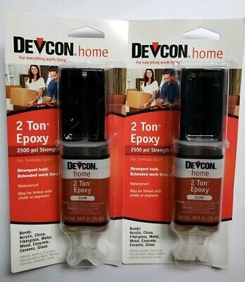 2 Devcon 31345 Home 2 Ton Proxy High Strength Multi Surface Adhesive .84oz