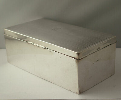 Very Large Solid Silver Cigarette Or Trinket Box - Birm. 1920