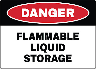 OSHA DANGER! FLAMMABLE LIQUID STORAGE | Adhesive Vinyl Sign Decal