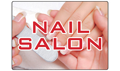 NAIL SALON NAIN, HAIR, SKIN SPA SIGN | Adhesive Vinyl Sign Decal