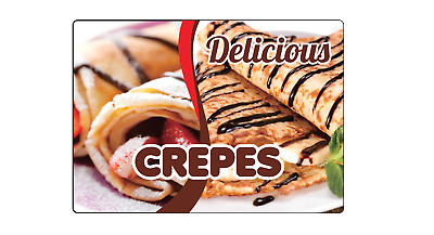 DELICIOUS CREPES - RESTAURANT FAST FOOD | Adhesive Vinyl Sign Decal