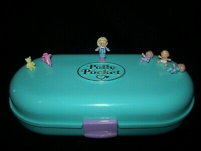 EUC 100% Complete Polly Pocket Babysitting Stamper 1992 (Working Ink)