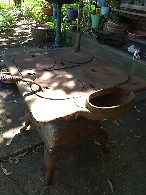 Cast iron cook stove, wood and coal (LOCAL PICKUP ONLY)