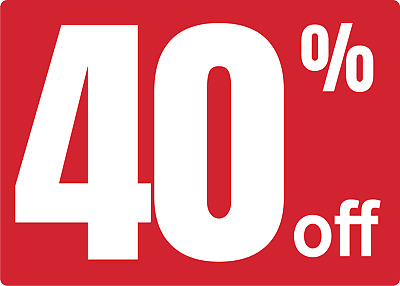 STORE SALE 40% OFF | Adhesive Vinyl Sign Decal