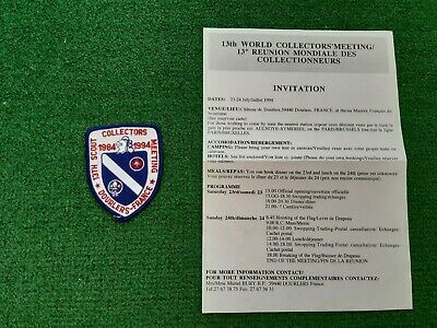 in526 INSIGNE SCOUT COLLECTORS MEETING 1984 -1994 DOURLERS FRANCE SCOUTING BADGE