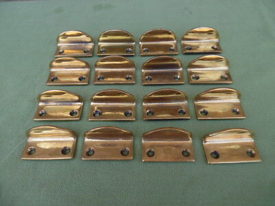 8 Pairs Original Edwardian Brass Sash Window Lifters Polished Made By Gibbons