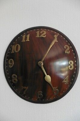 RARE c1930s ZENITH 18 DAY ART DECO WALL CLOCK IN EXCELLENT WORKING CONDITION