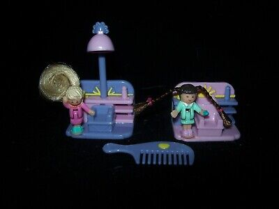 EUC 100% Complete Vintage Polly Pocket Comb 'n Curl Salon 1995