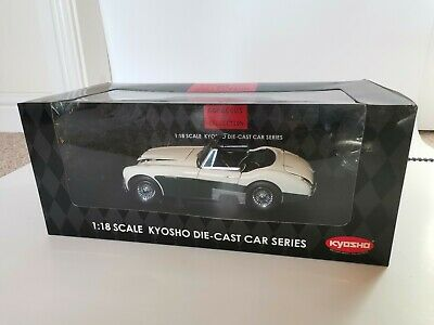 1:18 Austin-Healey 3000 Mk2 by Kyosho (Green and white MkII) with removable top