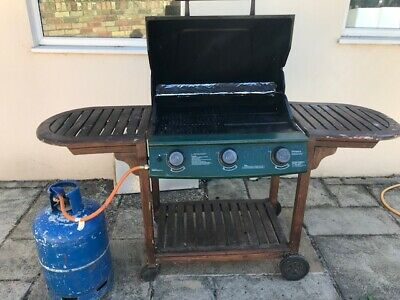 Victoria 3 Burner Gas Barbecue with cover and full gas cylinder