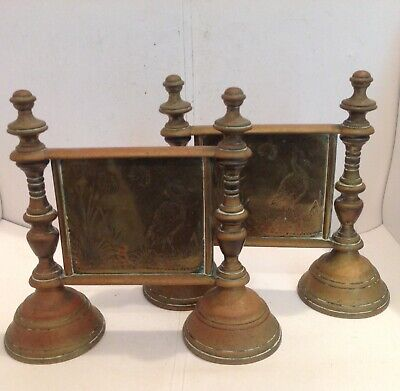 Attractive Pair Of Aesthetic Movement Brass Andirons