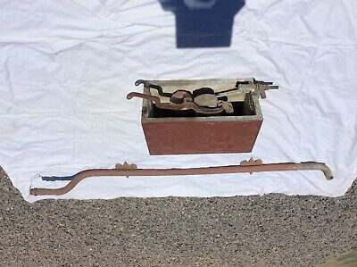 antique victorian wooden toilet cistern + downpipe