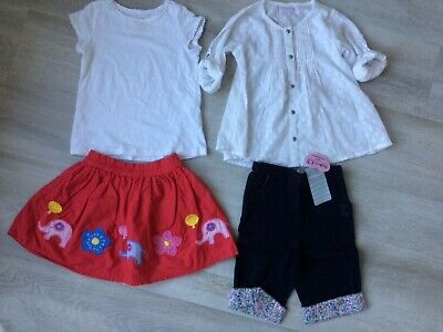 Girls summer clothes age 3-4 including BNWT JoJo Maman Bebe cropped trousers