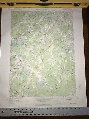1966 Topographical Map WESTFORD Quadrangle Massachusetts