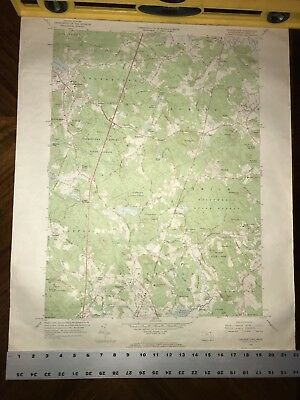 Antique 1966 Topographical Map GEORGETOWN Quadrangle Massachusetts