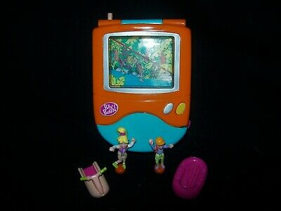 EUC 100% Complete (Lights Up) Vintage Polly Pocket Trendy Tronics Television