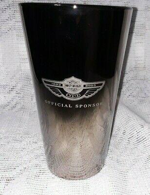 Miller Lite Harley Davidson Official Sponsor - Mirrored Finish Glass 2003 - Set