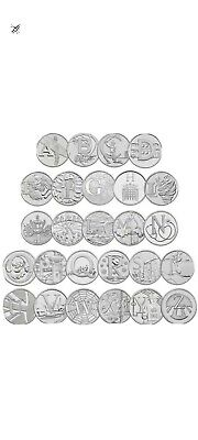 Royal Mint A-Z 2018 Great British Coin Hunt ALPHABET 10pFULL SET all 26 Coins