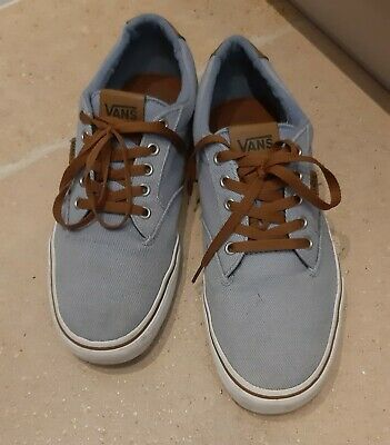 "Vans ""Off The Wall"" Blue and Brown Mens Trainers uk 9.5 eur 44"