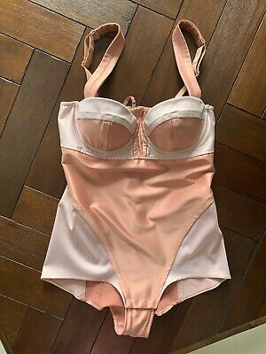 New! Sold Out SONIA RYKIEL for H&M pink Satin BODY EU38 UK10 rare STUNNING