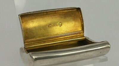 1808 Silver Georgian curved snuff box gold gilt interior.by Wardell & Kempson