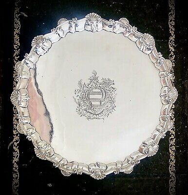 A Magnificent George III Silver Salver, London 1763