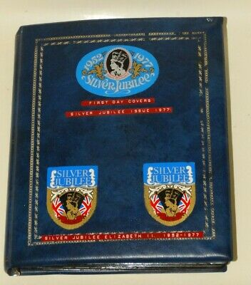 Large Silver Jubilee Commonwealth countries stamp album.  First Day Covers