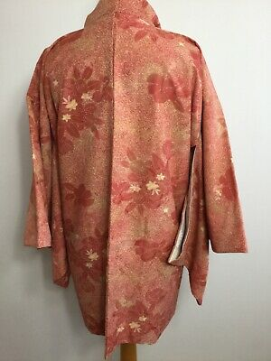 Vintage Authentic Kimono Haori Jacket Royal Gorgeous Floral, Unused #035