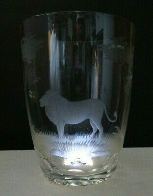 Rowland Ward  Lion Old Fashioned Highball Tumbler Whisky Glass