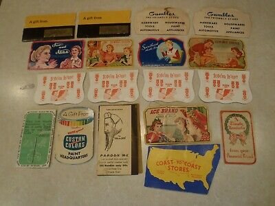 Vintage Needle Book Lot Gambles Coast to Coast Carnation Milk Tote'm Home Sewing