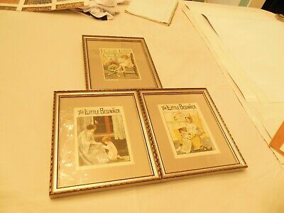 3 1930'S Childrens Framed Book Covers