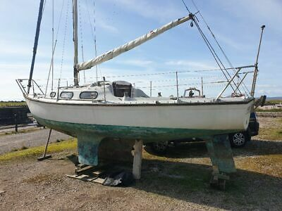 Yacht Achilles 24 Sail boat Project. Fully Original + 3 x Dolphin Mk7 engines.