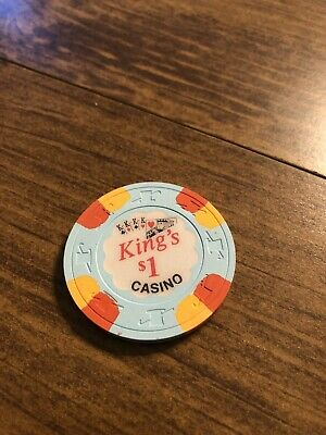 $1 king's vintage card room chip california casino chip shipping is 3.99