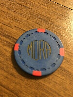 $1 mora illegal vintage card room chip california casino chip shipping is 3.99